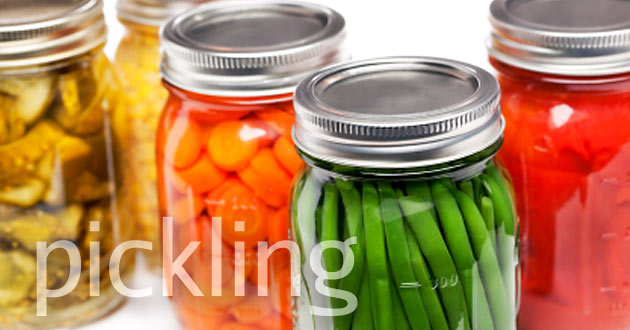 Pickling recipes using local & organic ingredients