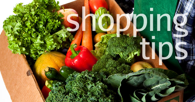 Shopping tips, foods to avoid, buying in season, building up a pantry & more