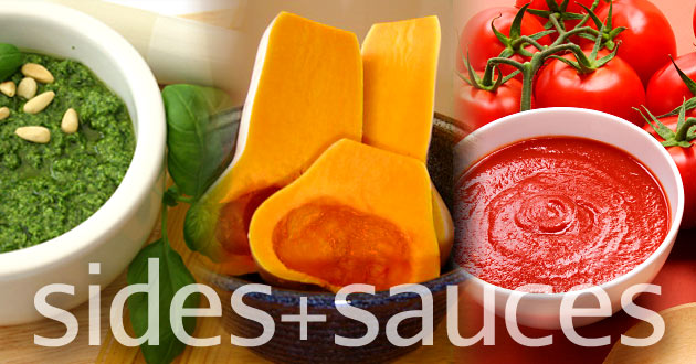 Sides and sauces recipes using local & organic ingredients