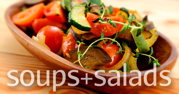 Soups and salads recipes using local & organic ingredients